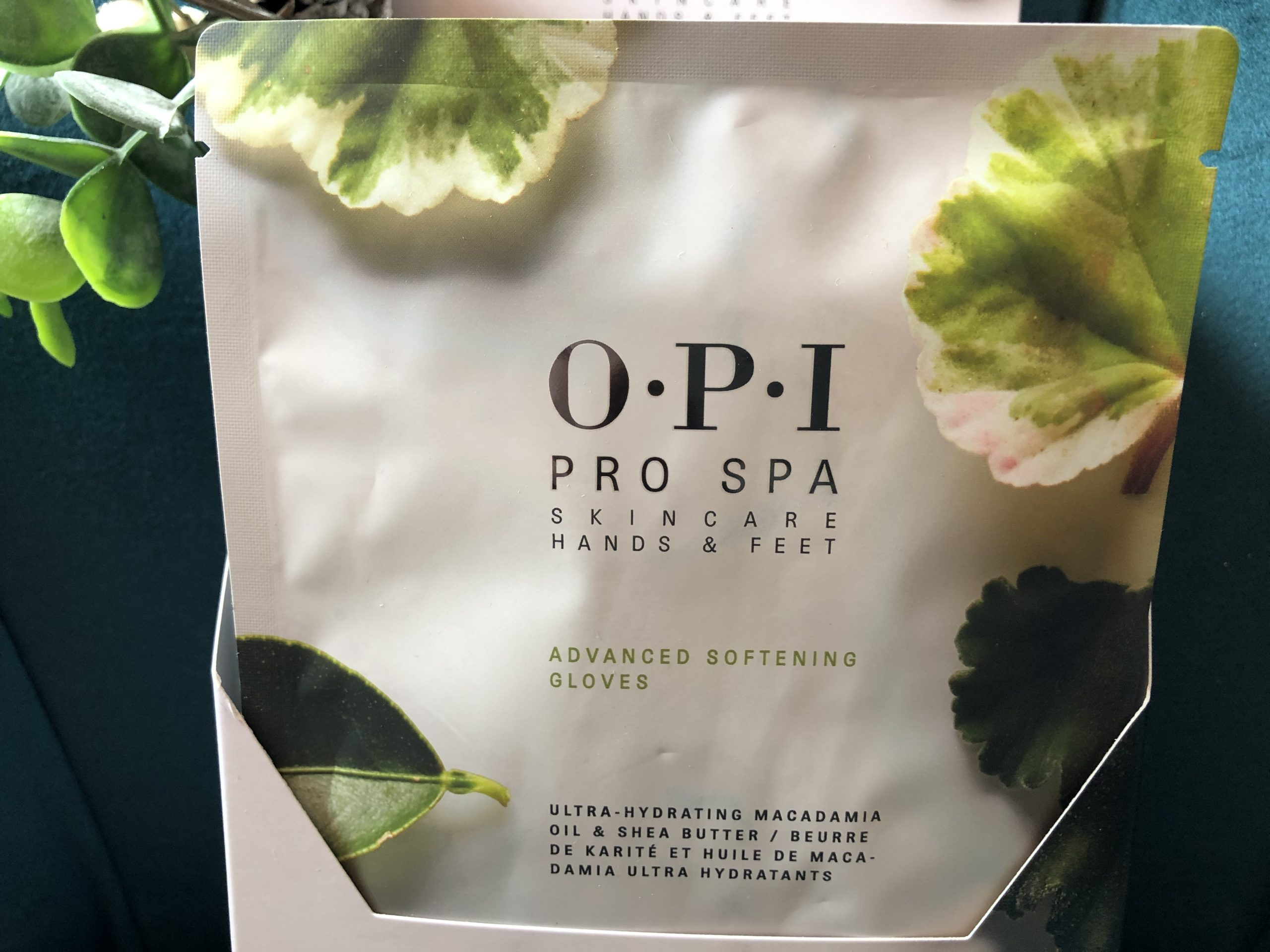 OPI hand conditioning gloves